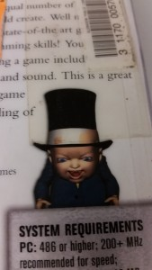 3d baby with top-hat, welcome to the early 2000s